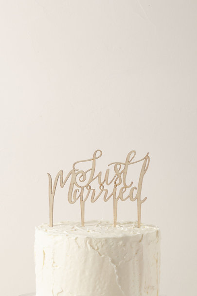 View larger image of Just Married Cake Topper