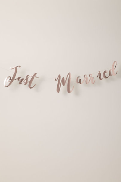 View larger image of Just Married Bunting