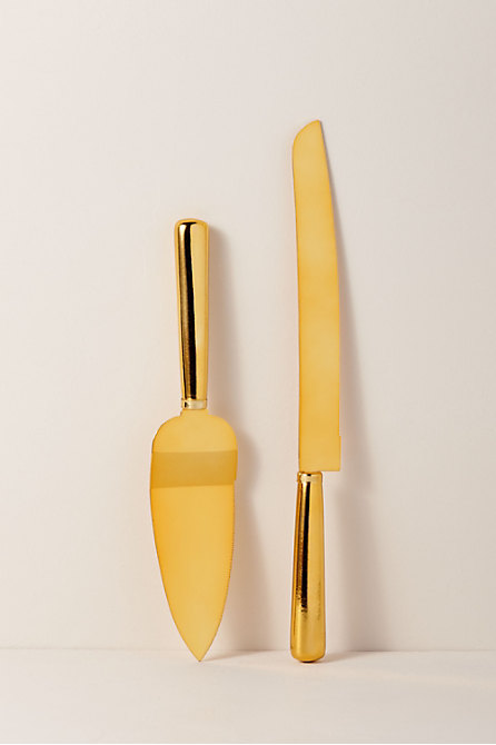 Gold Cake Knife