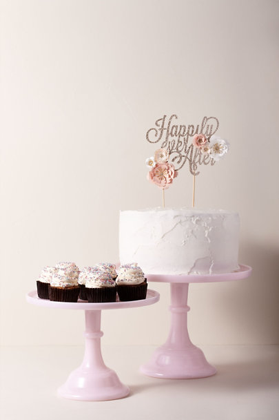Mosser Glass Pink Large Mosser Glass Tuscan Cake Stand | BHLDN