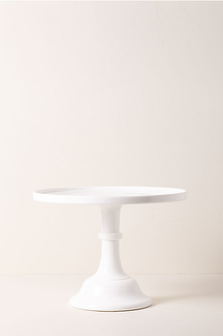 Large Milk Glass Cake Stand