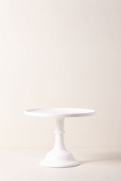 Mosser Glass White Small Milk Glass Cake Stand | BHLDN