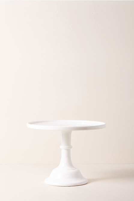 Small Milk Glass Cake Stand