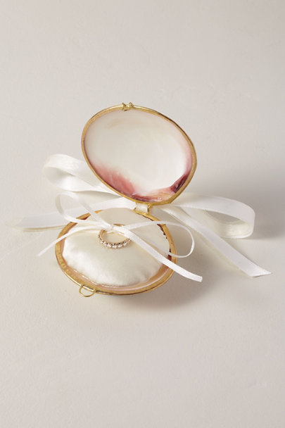 The Seashell Collection Pink Seashell Ring Box | BHLDN