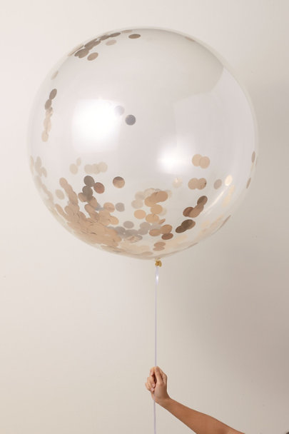 Poppies for Grace Gold Jumbo Confetti Balloon | BHLDN