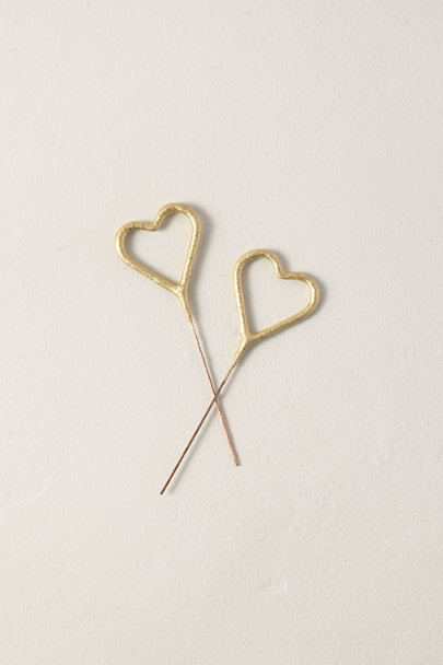 TOPS MALIBU Gold Mini Heart Dessert Sparklers | BHLDN