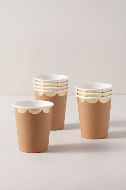 Natural Scalloped Cups