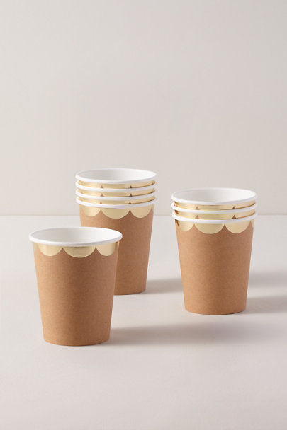 View larger image of Natural Scalloped Cups
