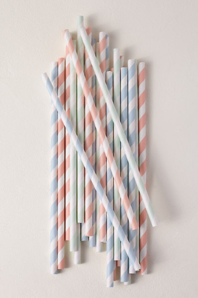 View larger image of Pastel Stripe Paper Straws