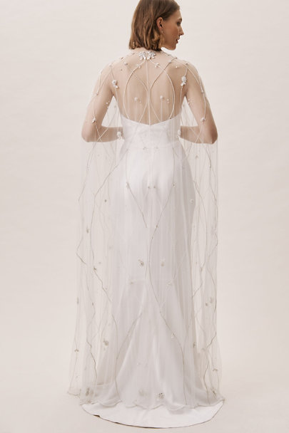 Zakaa Silver Brinsley Cape | BHLDN