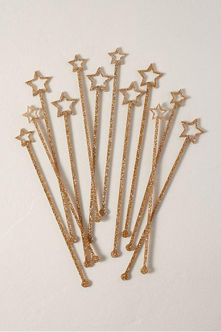 Acrylic Star Swizzle Sticks