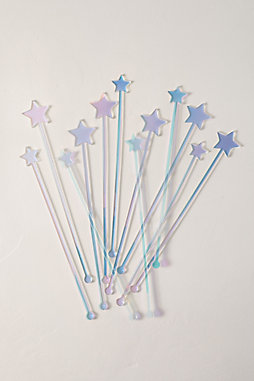 Acrylic Star Swizzle Sticks