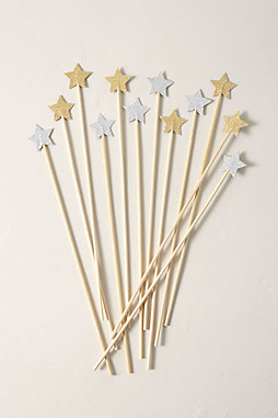 Wooden Star Swizzle Sticks