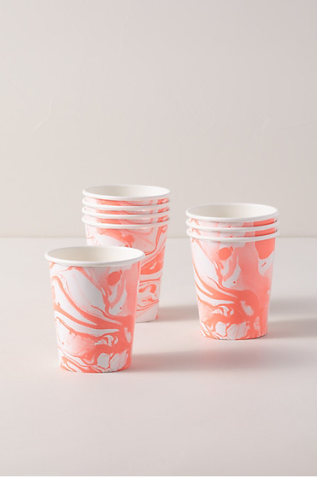 Marbled Paper Cups