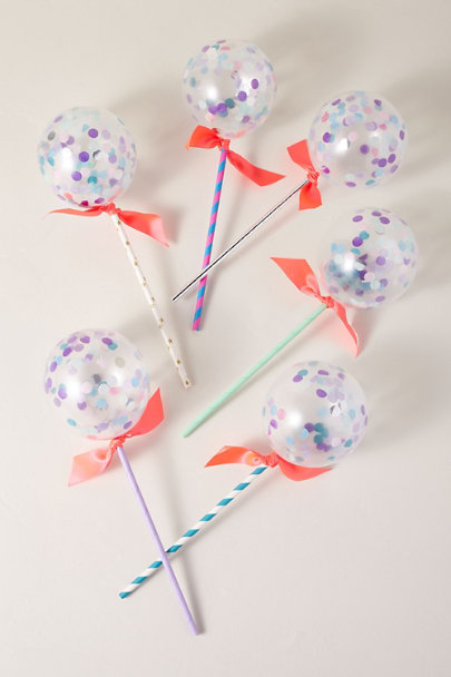 Poppies for Grace Blue Motif Balloon Pop Kit | BHLDN