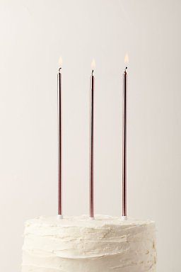 Long Metallic Candles