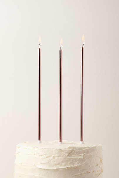 View larger image of Long Metallic Candles