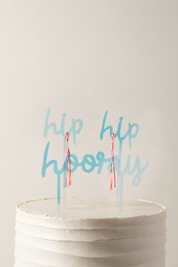Hip Hip Hooray Cake Topper
