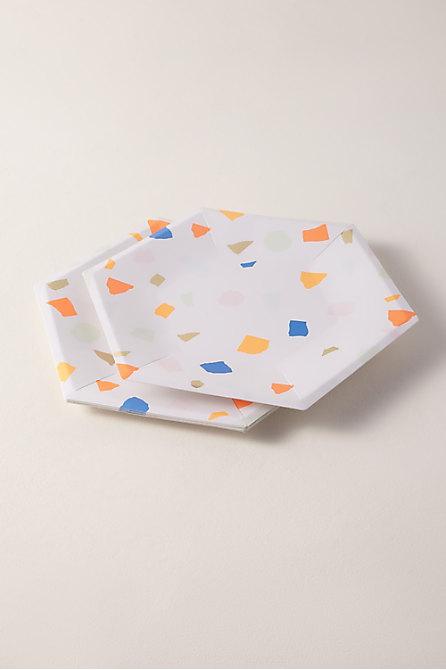 Bright Terrazzo Paper Plates