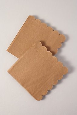Natural Scalloped Napkins