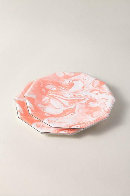 Marbled Paper Plates