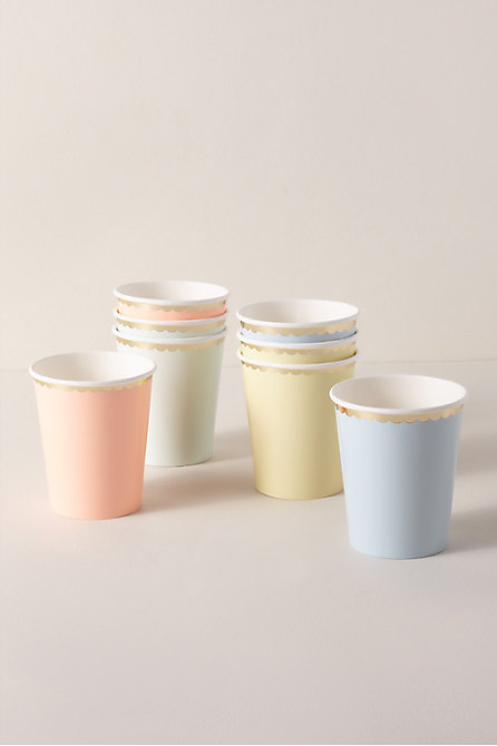 Pastel Scalloped Paper Cups