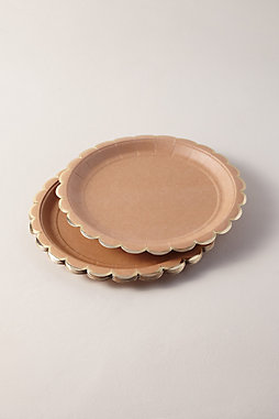 Natural Scalloped Paper Plates