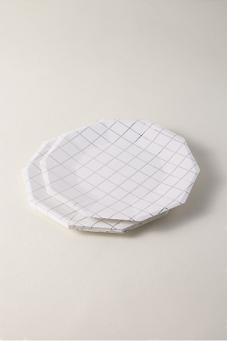 Grid Paper Plates