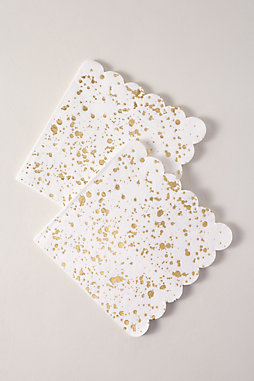 Gold Splatter Napkins