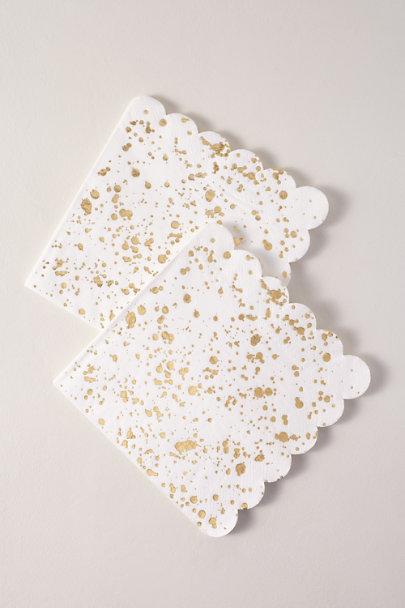 View larger image of Gold Splatter Napkins