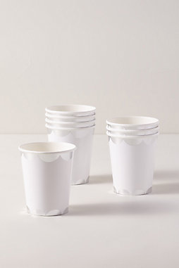 Silver Scalloped Paper Cups