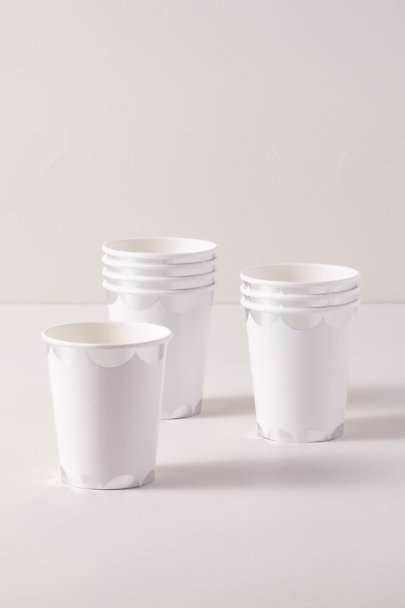View larger image of Silver Scalloped Paper Cups