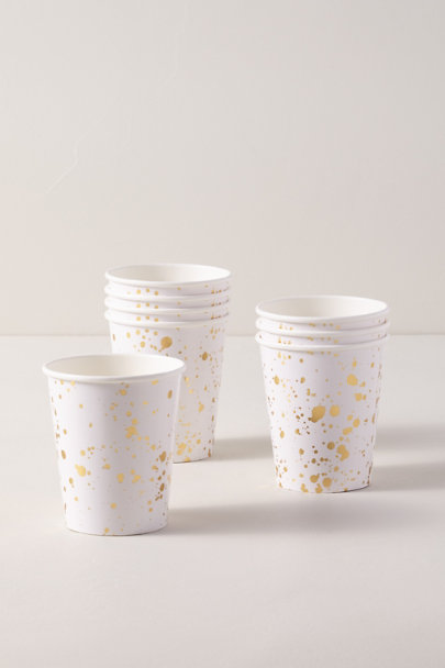 View larger image of Gold Splatter Paper Cups