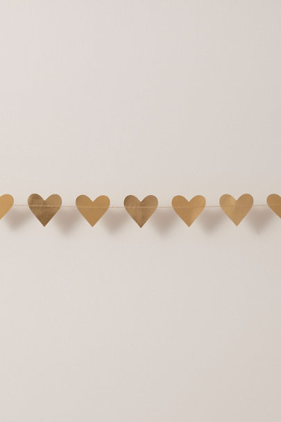 My Mind's Eye Gold Mini Heart Banner | BHLDN