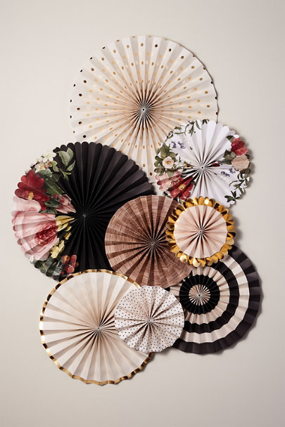 My Mind's Eye Assorted Botanical Party Fans | BHLDN