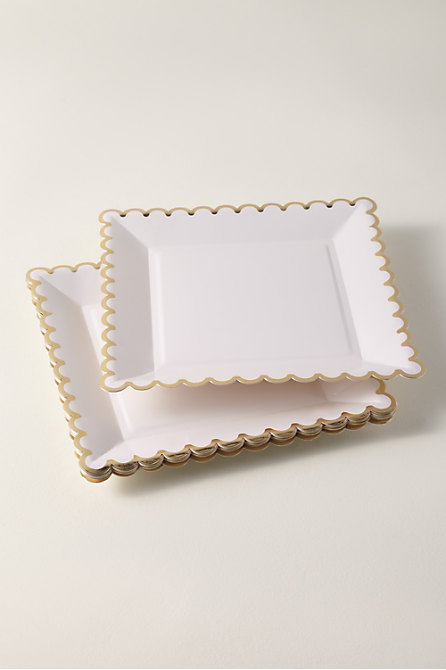 Scalloped Paper Plates
