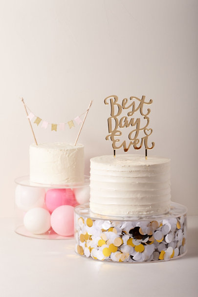 My Mind's Eye Gold Best Day Ever Cake Topper | BHLDN