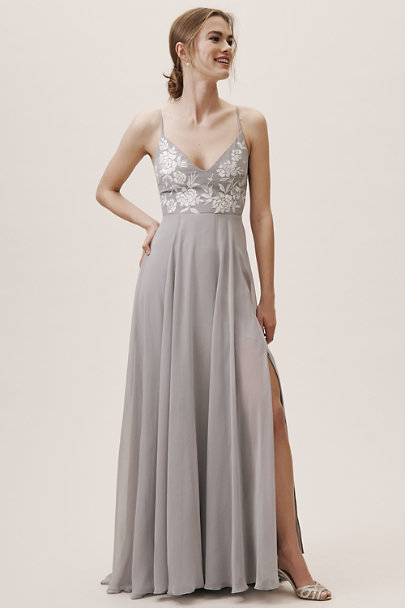 BHLDN Grey Sadia Dress | BHLDN
