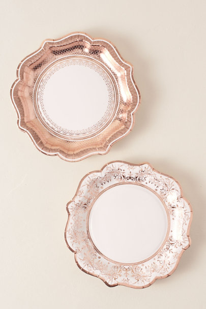 View larger image of Rose Gold Print Paper Plates