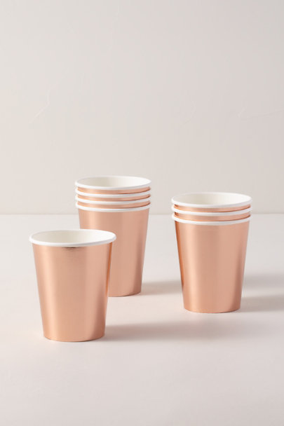 Talking Tables Copper Rose Gold Paper Cups | BHLDN