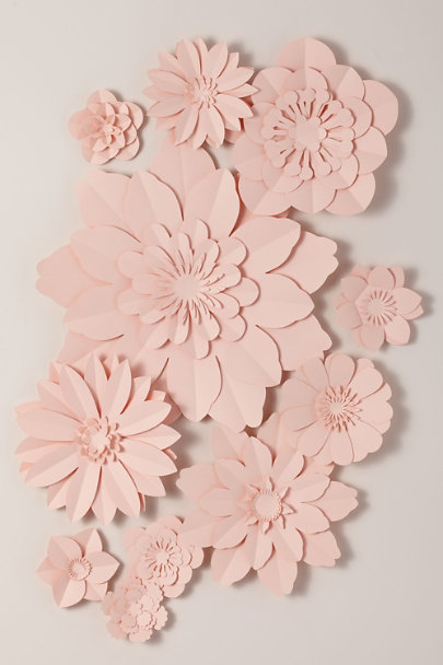 View larger image of Paper Flower Wall Decor