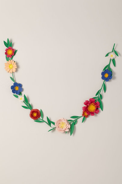 May Contain Glitter Assorted Paper Flower Garland | BHLDN