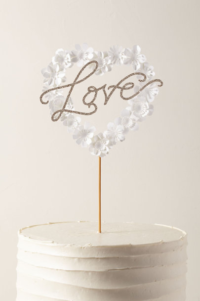 View larger image of Love Heart Cake Topper