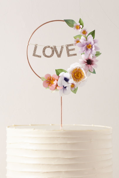 View larger image of Love Wreath Cake Topper