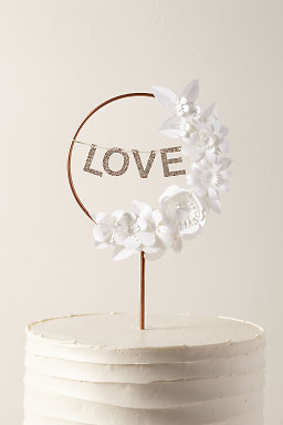 Love Wreath Cake Topper