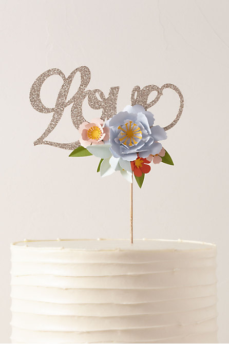 Floral Love Cake Topper
