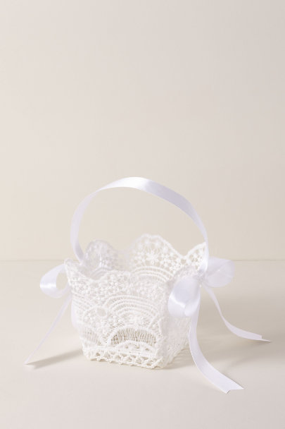 View larger image of Small Lace Flower Girl Basket