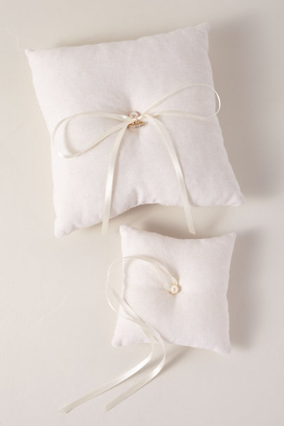 Homesite Ivory Cotton Ring Pillow | BHLDN