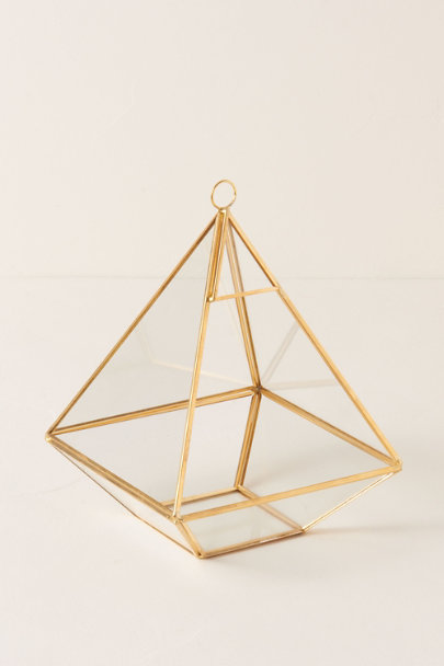 Gold Glass Terrarium | BHLDN