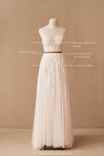 Willowby by Watters Ivory/Blush Geranium Gown | BHLDN
